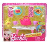 【残り僅か】 バービー Barbie ドールハウス用小物セットC:朝食 パンケーキ アクセサリー 家 家具 人形用 輸入 グッズ ゆうパケット不可 プレゼント 誕生日 お祝い 子供 ラッピング対応可