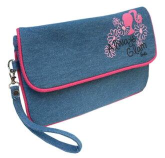 可巴比Barbie粗斜紋布離合器袋手提包人物休閒商品雜貨yuu分組