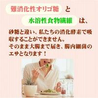 難消化性オリゴ糖と水溶性食物繊維