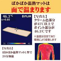 8.サーモグラフィーでみるぽかぽか温熱マットは面でむらなく温まる