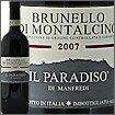 今最注目の自然派ブルネッロブルネッロ・ディ・モンタルチーノ[2007]イル・パラディーソ・ディ...