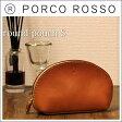 PORCO ROSSO(ポルコロッソ)ラウンドポーチS/革/本革/レザー/ポーチ/ギフト