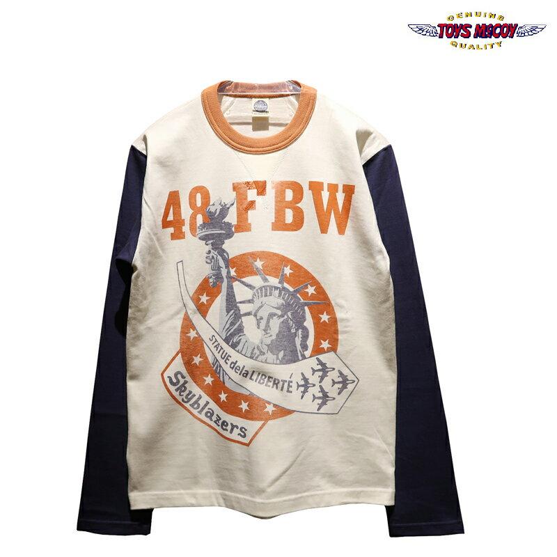 トップス, Tシャツ・カットソー  TOYS McCOY MILITARY LS TEE USAFE 48 FBW SKYBLAZERS TMC2050 T
