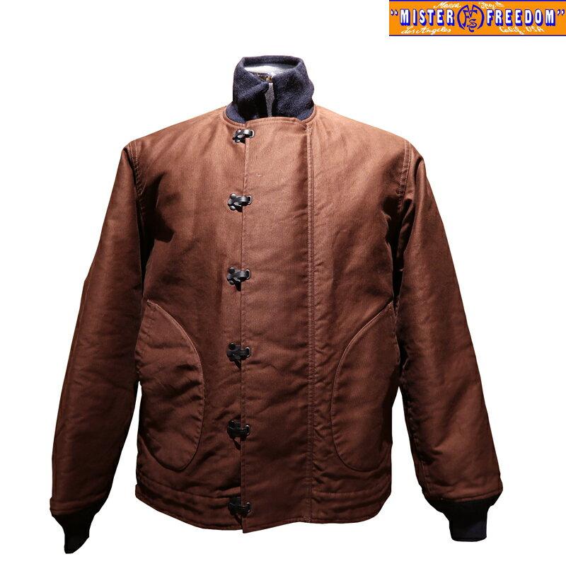 メンズファッション, コート・ジャケット  MISTER FREEDOMSUGAR CANE MFSC SURPLUS BROWN JUNGLE CLOTH N-1HN-1 SC14525 N-1 USN