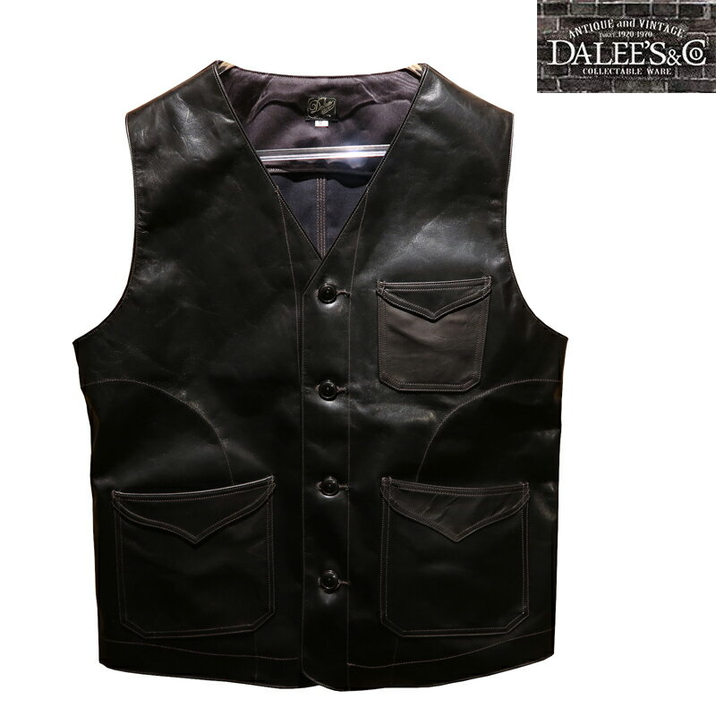 トップス, ベスト・ジレ  DALEESCO Mest.B Horse Hide Leather Vest