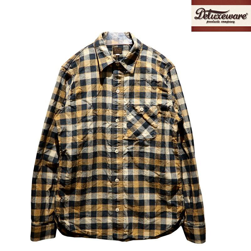 トップス, カジュアルシャツ  DELUXEWARE THROUGH BLC CHECK LV-17