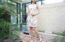 ワンピース ドレス【RINASCIMENTO リナシメント61728】Aライン 膝丈 ピンク 白