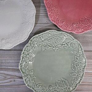 リーフ&バード ディナープレート ポルトガルを代表する陶磁器メーカー ボルダロピニェイロ