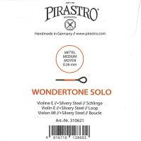 【メール便対応商品】【WondertoneSolo】ワンダートーンソロバイオリン弦1E(シルバリースチール・3106/3103)