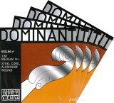 【メール便対応商品】【Dominant】ドミナントバイオリン弦 セット(1E=アルミ巻?130/3D=アルミ巻?132)