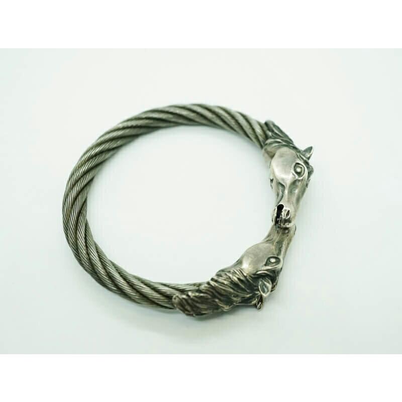 メンズジュエリー・アクセサリー, バングル GABORATORY GABOR Horse With Teeth Triangle Wire Bangle BG-35 silver 925 925