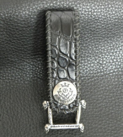 メンズジュエリー・アクセサリー, その他 Crocodile Skin Belly Triple Belt Loop BL-06 GABORATORY GABOR silver 925 925