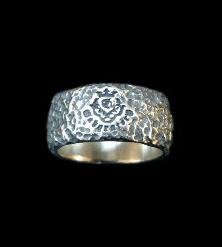 メンズジュエリー・アクセサリー, 指輪・リング GABORATORY GABOR Multi Engraved Large Chiseled H.W.O Ring R-116 silver 925 925
