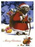 【送料¥216〜】 スターウォーズ ポストカード クリスマスバージョン(ヨーダ)