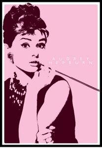 オードリー・ヘプバーン Audrey Hepburn (Cigarello) ポスター フレームセット ¥3800以上お...