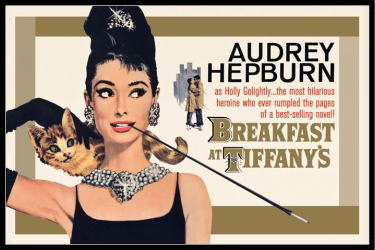 オードリー・ヘプバーン Audrey Hepburn (Breakfast At Tiffany's Gold One-sheet) ポスター フレ...