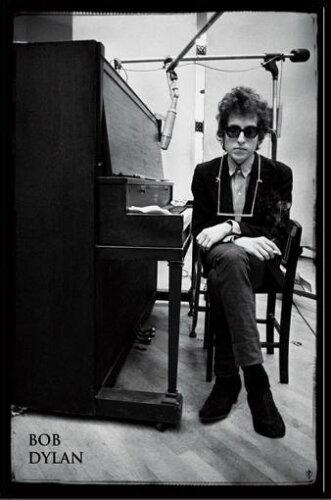 ボブ・ディラン Bob Dylan - Piano ポスター ポスター フレームセット