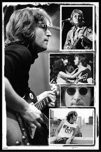 ジョン・レノン ポスターフレームセット John Lennon (Collage - Bob Gruen)(131209)
