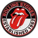 【送料¥216〜】 【ロンドン直輸入オフィシャルグッズ】ローリング・ストーンズ アイロンワッペンThe Rolling Stones Iron-on Patch: Est. 1962(131217)