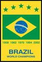 ブラジル ワールドカップ ポスターフレームセット Brazil World Champions¥3800以上お買い上...