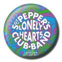 【送料¥216〜】 ジョン・レノン ポール・マッカートニー カンバッチ Lyrics by Lennon & McCartney (Sgt. Pepper Psychedelic)ビートルズ (180524)