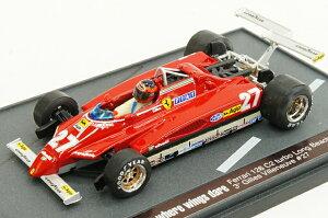 ブルム BRUMM 1/43 フェラーリ 126C2 1982年 アメリカ西GP ロング・ビーチ #27 ジル・ヴィルヌ...