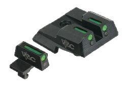 デトネーター DETONATOR 東京マルイ S&W M&P対応 VTACタイプ スティール フロント&リアサイトセット カラー:ブラック(ST-TM18)