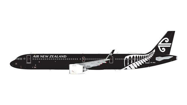 ジェミニ200 1/200 A321neo ニュージーランド航空 All ブラックs Livery ZK-NNA 完成品 艦船・飛行機 G2ANZ801