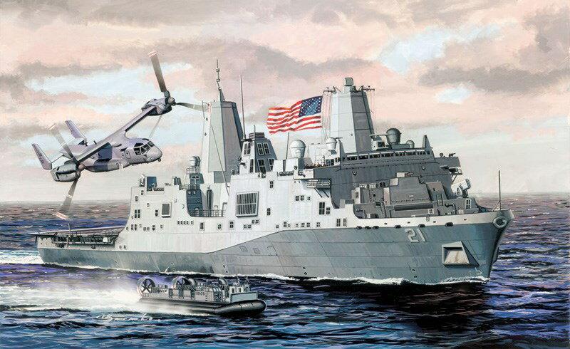 ミリタリー, 戦艦  1700 USS LPD-21 CH7110