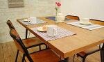 ダイニングテーブルFKオークLBRアイアン脚がかわいいカフェ風のダイニングテーブル