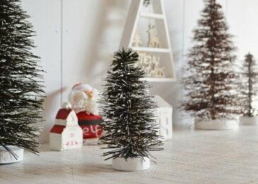 【スノーツリーグリーンXS】クリスマスツリー 雑貨 飾り 置物 もみの木 クリスマス インテリア 飾り付け ミニツリー ツリー 雪 雪化粧 街並み かわいい ディスプレイ おしゃれ SPICE ポタフルール