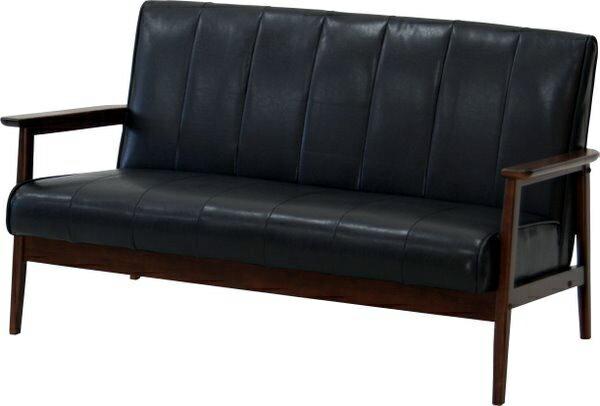 ブラック ソファ 2Pソファ チェアー 高級感たっぷり 本皮風 新生活家具 厳選 店長イチ押し 新型 新商品 限定 木脚付き ラバーズ2Pソファ