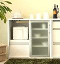 スライド扉のキッチンカウンター 開閉時にスペースを取らず、狭い場所でも有効に使えます!90サイズのキッチンカウンター レンジカウンター90 間仕切りカウンター日本製完成品★コノカ90カウンターOP(ホワイト) 完成品 05P10Jan15