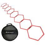 REFREEZE(リフリーズ) ラダー トレーニング スピードヘキサゴン 8個セット 収納バッグ付き アジリティ リング ハードル トレーニング サッカー フットサル 野球 陸上 バスケ テニス 練習 敏捷性 瞬発力 アップ