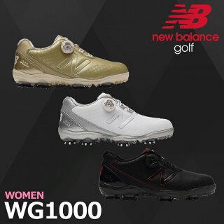 【シューズ系】【WG1000】【2017年モデル】NEWBALANCEGOLF-ニューバランスゴルフ-LADYS(レディース)Boaスパイクゴルフシューズ【足幅:D(やや細め)】【ゴルフ用品】