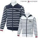 【50%OFF】TOMMY HILFIGER GOLF 春夏モデル トミーヒルフィガー フルジップ ニットパーカー メンズ THMA930【19】