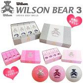 【待望のNewModel入荷!!!】【1ダース】WILSON BEAR3 BALL ウィルソン ベア3 レディース ゴルフボール 1ダース(12球)【ゴルフボール】