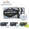 DUNLOP-ダンロップ- XXIO-ゼクシオ- AERO SPIN エアロ スピン ゴルフボール 1ダース(12球)【ゴルフボール】 | ・ ゴルフ パワーゴルフ