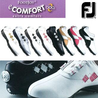 [鞋派]FOOTJOY-脚喬伊-eComfort Boa E舒服毛皮圍巾(女子)釘鞋高爾夫球鞋[脚寬度:W(EE)型][高爾夫球用品][2017年目錄商品脚喬伊/FOOTJOY]| 運動·戶外高爾夫球功率高爾夫球powergolf