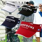 St ANDREWS セントアンドリュース バイザー MENS メンズ 春夏 042-7987004 NEW春夏モデル WHITE LABEL ベーシックツイルバイザー【18】帽子 ゴルフ用品