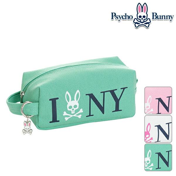 サイコバニー ユニセックス 2019年春夏モデル ミニポーチ キャンバス バッグ 小物入れ フリー サイズ Psycho Bunny【19】ゴルフ pbmg9se1