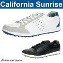 【CSSH-3611】朝日ゴルフ-アサヒゴルフ- California Sunrise カリフォルニア サンライズ (メンズ)スパイクレス シューズ【足幅:3.5E】【ゴルフシューズ】