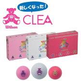 【在庫限り!!】ウィルソン ベア クレア カラーボール(12球) WILSON BEAR CLEA レディース ゴルフボール【ゴルフボール】
