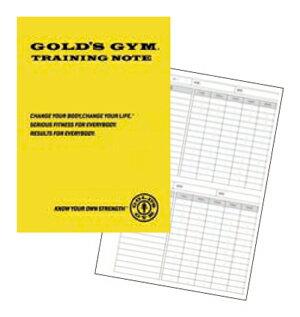 ゴールドジム GOLD's GYMトレーニング ノート 記録 トレーニングメモ トレーニングノート G9500