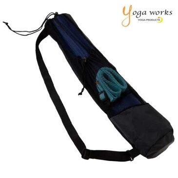 ヨガワークス YW-F502-C000 メッシュバッグ ポケット付き 5枚お買い上げで送料無料 ヨガマットバッグ ヨガマットケース ショルダータイプ ヨガマット 収納 撥水性 軽量 トレーニング フィットネス ピラティス yogaworks