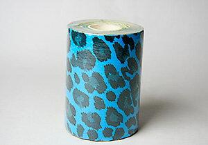 ニューハレAKTヒョウ 10cm幅×5m ターコイズブルー