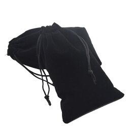 ベロア巾着袋 ポーチ ループエンド付き ラッピング マスク入れ コスメグッズ袋 学校や幼稚園に 携帯 保管や整理に 2枚セット JL-DSBAGSET2