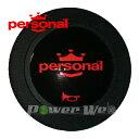 [00362006] personal / ホーンボタン レッドロゴ 1個
