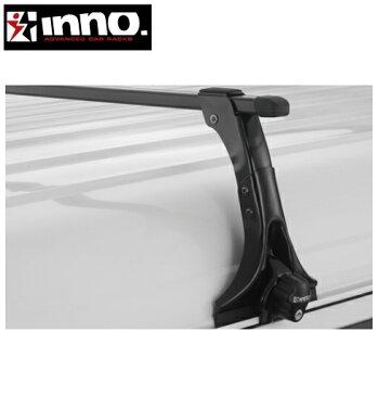 CARMATE inno (カーメイト イノー) トヨタ ハイエース 型式:H1##系 年式:H1.8〜H16.8 セミミドルルーフ フット:IN-MDK+バー:B137(ブラック) スクエアベース 1台分セット