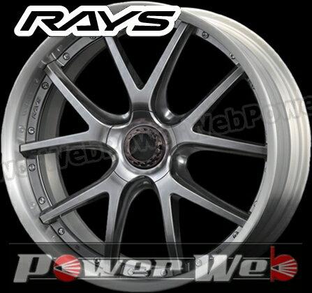 RAYS(レイズ) HOMURA 2X5P (ホムラ ツーバイファイブピー) 22インチ 9.0J PCD:114.3 穴数:5 inset:36 Aディスク カラー:シャイニングシルバー/ブラッシュドリム [ホイール1本単位]
